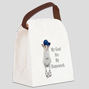 GOAT-homework Canvas Lunch Bag