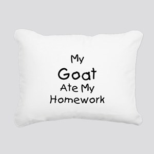 MyGoatatehomework-plain Rectangular Canvas Pil