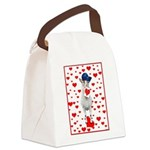 3-Goat-LoveheartsNoteCard Canvas Lunch Bag
