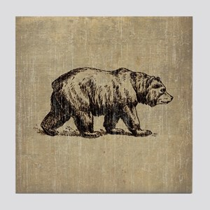 Vintage Bear Tile Coaster