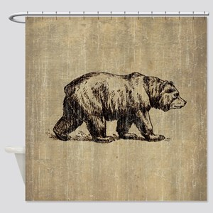 Vintage Bear Shower Curtain
