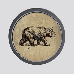 Vintage Bear Wall Clock