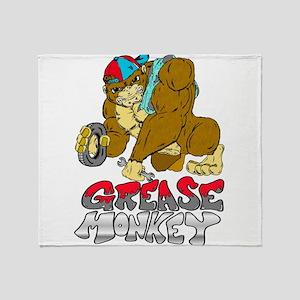 Grease monkey Pride Throw Blanket