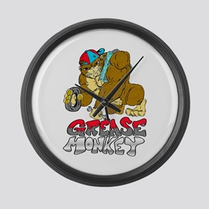 Grease monkey Pride Large Wall Clock