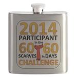 2012 60 Scarves Challenge Flask