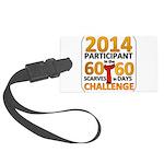 2012 60 Scarves Challenge Large Luggage Tag