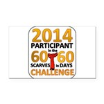 2012 60 Scarves Challenge Rectangle Car Magnet