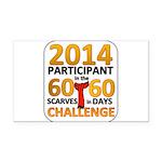 2012 60 Scarves Challenge Rectangle Car Magnet