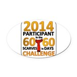 2012 60 Scarves Challenge Oval Car Magnet