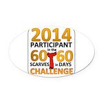 2012 60 Scarves Challenge Oval Car Magnet
