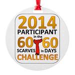 2012 60 Scarves Challenge Round Ornament