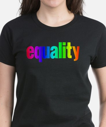 Rainbow Equality Women's Dark T-Shirt