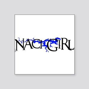 "NACI3_BLK1 Square Sticker 3"" x 3"""