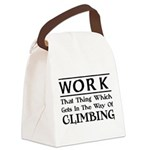Work and Climbing Canvas Lunch Bag