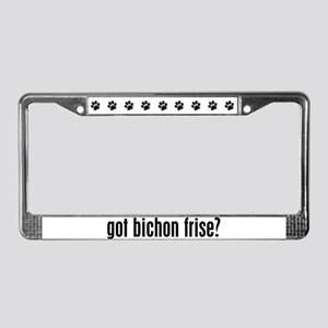 Got Bichon Frise? License Plate Frame