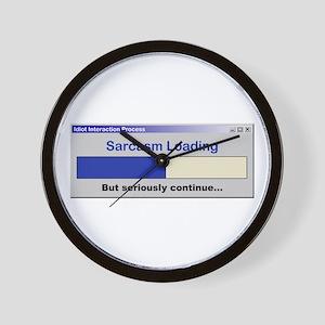 SarcasmLoading Wall Clock