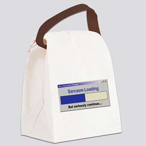 SarcasmLoading Canvas Lunch Bag