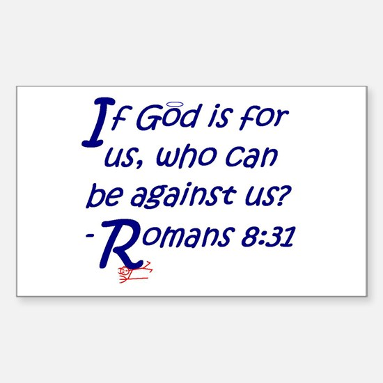 Romans 8:31 Rectangle Decal