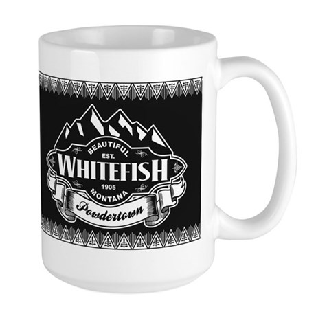 Whitefish Mountain Emblem Large Mug