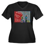 * Women's Plus Size V-Neck Dark T-Shirt