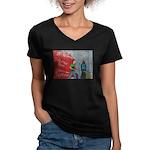 * Women's V-Neck Dark T-Shirt