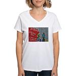 * Women's V-Neck T-Shirt