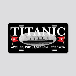 Titanic Ghost Ship (black) Aluminum License Plate