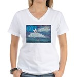 * Women's V-Neck T-Shirt
