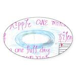 9 Sticker (Oval 10 pk)