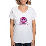 10th Anniversary Peeeeenk! Women's V-Neck T-Shirt