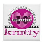 10th Anniversary Peeeeenk! Tile Coaster