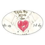 8 Sticker (Oval 10 pk)
