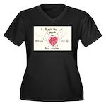 8 Women's Plus Size V-Neck Dark T-Shirt
