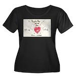 8 Women's Plus Size Scoop Neck Dark T-Shirt
