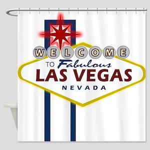 Fremont Street Las Vegas Shower Curtains