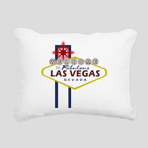 VegasSign Rectangular Canvas Pillow
