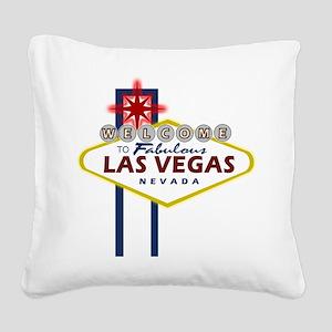 VegasSign Square Canvas Pillow