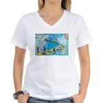 6 Women's V-Neck T-Shirt