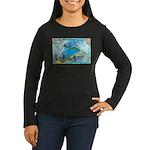 6 Women's Long Sleeve Dark T-Shirt