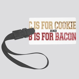 CisCookieBisBacon Large Luggage Tag