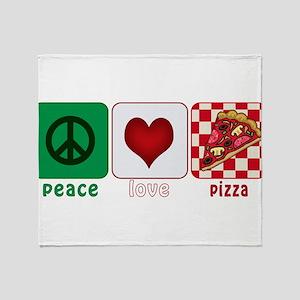 PeaceLovePizza Throw Blanket