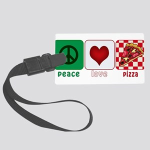 PeaceLovePizza Large Luggage Tag