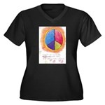 2 Women's Plus Size V-Neck Dark T-Shirt