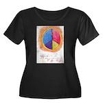 2 Women's Plus Size Scoop Neck Dark T-Shirt