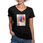 2 Women's V-Neck Dark T-Shirt