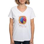 2 Women's V-Neck T-Shirt