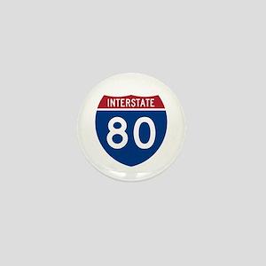 Interstate 80 Mini Button