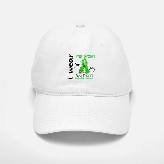 I Wear Lime 43 Lymphoma Baseball Baseball Cap