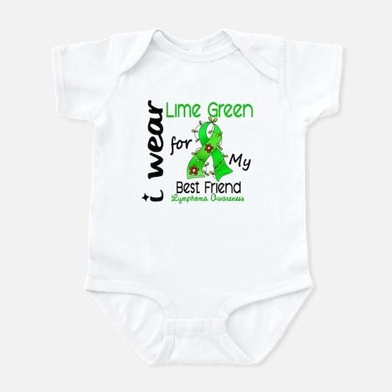 I Wear Lime 43 Lymphoma Infant Bodysuit
