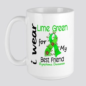 I Wear Lime 43 Lymphoma Large Mug